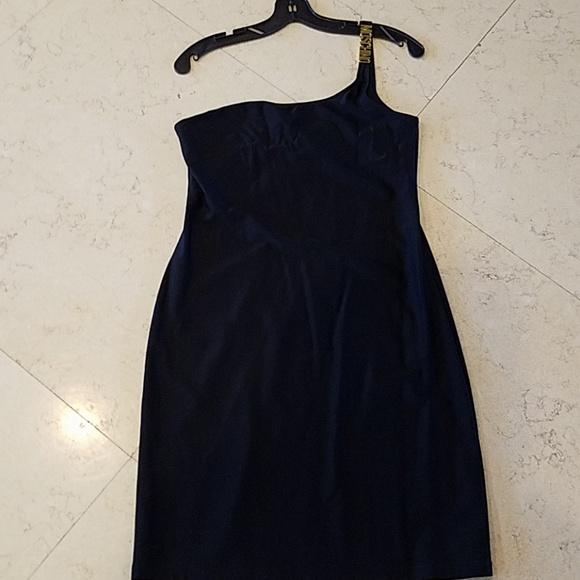 Moschino Dresses & Skirts - Moschino black off shoulder dress